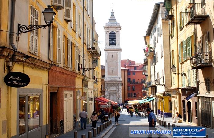 Khu phố cổ lãng mạn ở Nice