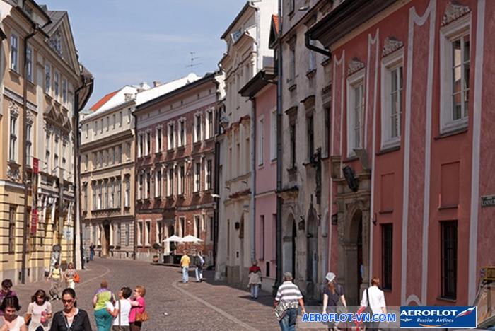 Một góc thành phố Krakow yên bình