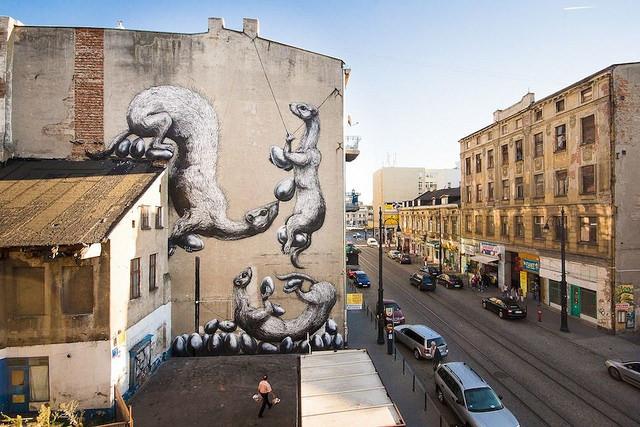 Chiêm ngưỡng nghệ thuật đường phố tại Lodz