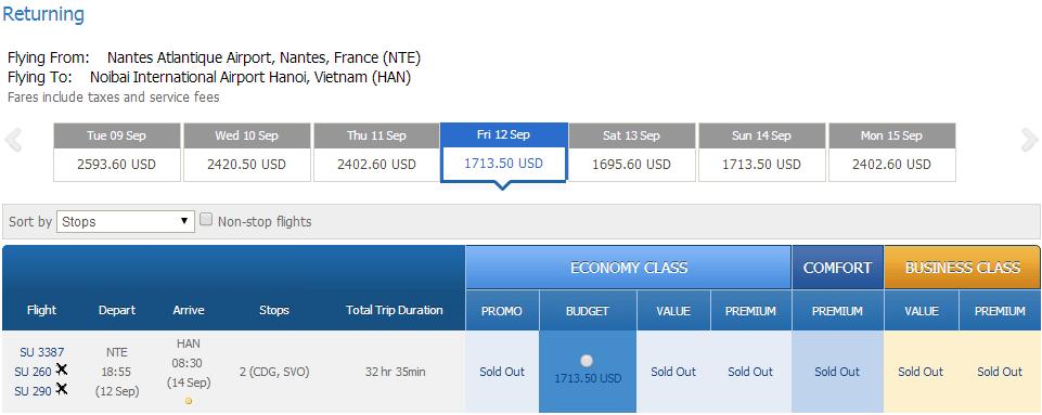 Vé máy bay đi Nantes giá rẻ