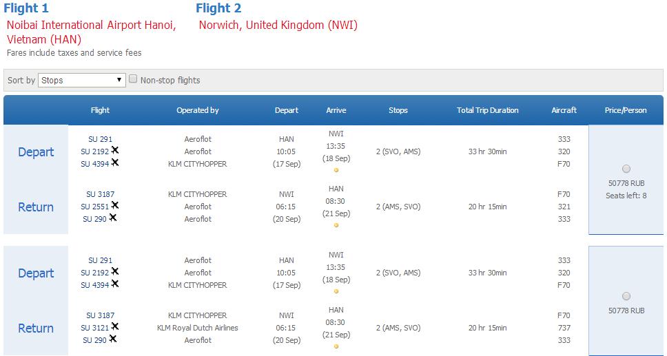 Vé máy bay đi Norwich giá rẻ