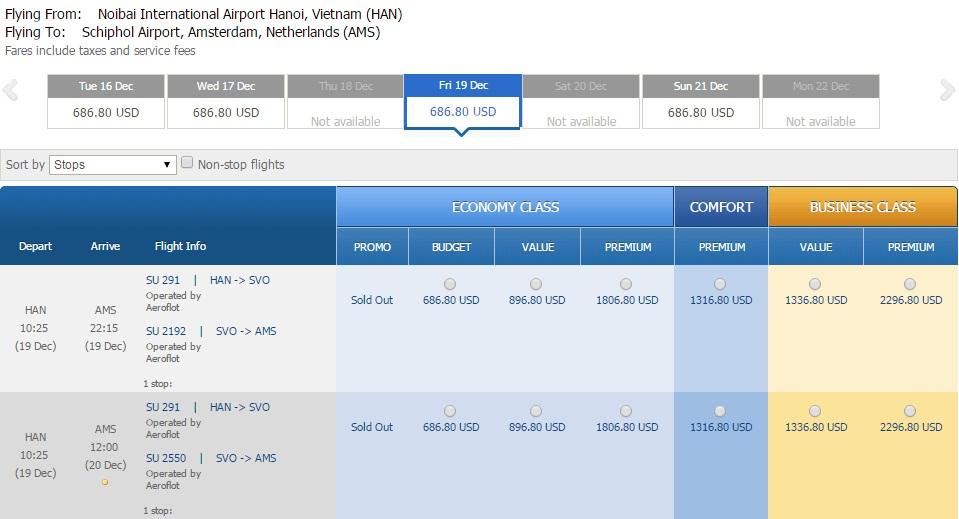Vé máy bay đi Hà Lan giá rẻ nhất