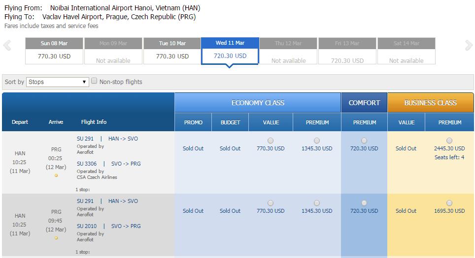 Vé máy bay đi Séc bao nhiêu tiền?