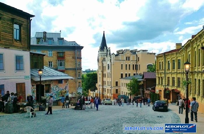 Những con đường dốc quanh co ở Andreevsky Spusk