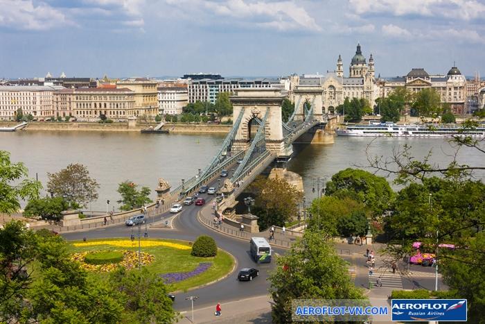 Cầu Chain - một trong những biểu tượng của đất nước Hungary