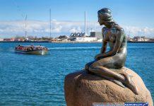 Tượng Nàng tiên cá ở thủ đô Copenhagen Đan Mạch