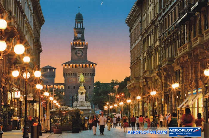 Thành phố Milan lúc lên đèn