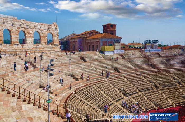 Một góc bên trong đấu trường Roman Arena