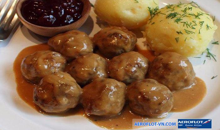 Thịt viên Thụy Điển thơm ngon lạ miệng