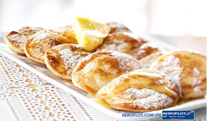 Bánh poffertjes truyền thống của Hà Lan