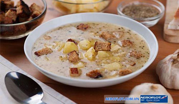 Súp tỏi món ăn đặc trưng của người Phần Lan