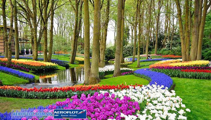 Khu vườn Keukenhof trải dài hoa tulip