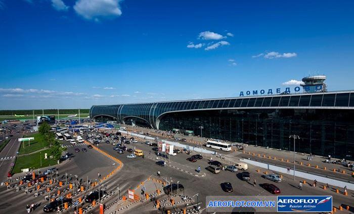 Sân bay quốc tế Domodedovo, nằm cách thành phố Matxcova 35km về phía Nam