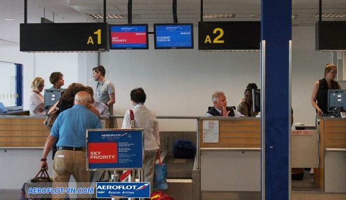 hành lý ký gửi miễn cước Aeroflot
