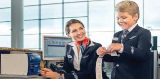 Gắn thẻ hành lý khi làm thủ tục với Aeroflot
