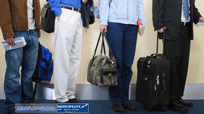 hành lý xách tay miễn cước Aeroflot