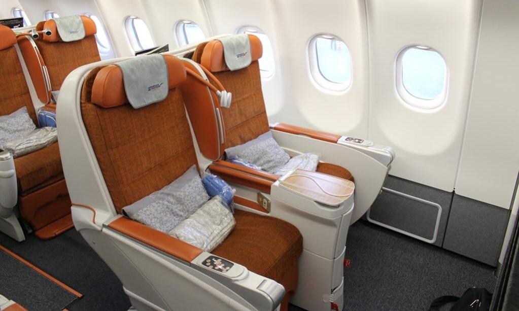 Business Class của Aeroflot cực kì rộng rãi và thoải mái