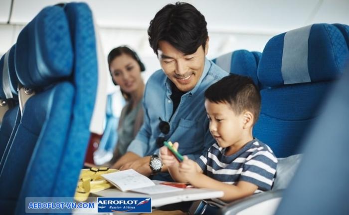 Aeroflot cung cấp nhiều dịch vụ giải trí trên máy bay cho trẻ em