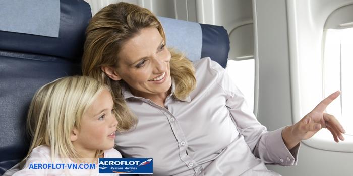 Trẻ em đi máy bay của Aeroflot có  những quy định riêng của mình