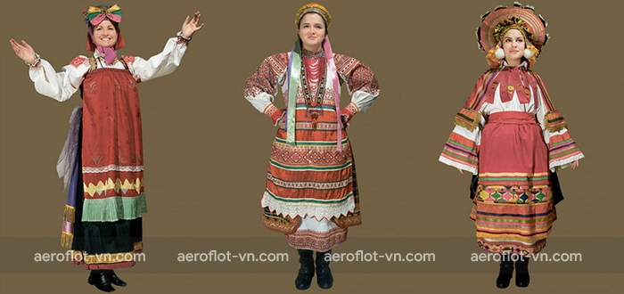 Trang phục truyền thống của phụ nữ Nga thời Nga Hoàng